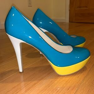 Nine West Color Block Pumps